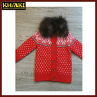 autumn winter 100% cotton kid clothes girls sweaters kids coats