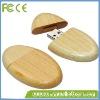 Ellipse wooden usb flash drive
