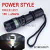 Cree chip 180 Lumens LED torch light