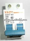DZ47-63 63A Poles 2 MCB quality guaranteed economical shippment
