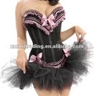 floral sex corset top dress with tutu skirt hot sale