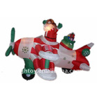 Inflatable Christmas Santa Airplane