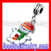 Christmas Snowman Charm/Pendant with Enamel Red Hat FA0119