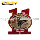 popular custom gold plated Lapel pins for Christmas items