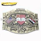 2012 unique antique army metal belt buckle