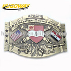 2012 unique antique army metal belt buckle