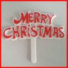 EN71 plastic merry christmas cake food decoration