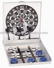 Fashion 2 in 1 aluminum dart game with chess game