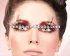 new design red purple feather eyelashes
