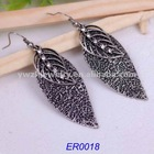 2012 fashion nice leaf-shaped with crystal earing