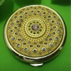 gold strass compact pocket mirror