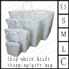 ship white kraft shopping/gift bag