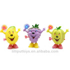 Wind up Fruit Toys with Flashing Light