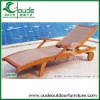 ash wood and pvc rattan wooden lounge chair