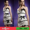 Sexy short sheath lady dress white satin cocktail dresses 2012