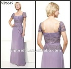 Elegant light purple chiffon beaded and appliques mother of the bride dresses
