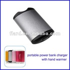 Portable power supply with hand warmer