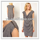 Washed Jersey Dress with Cowl Neck