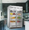 1300L 0-10'C Commercial Upright Glass Door Kitchen Refrigerator / Restaurant Fridge Chiller Equipment