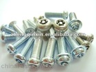 1018 carbon steel white pan head machine screws