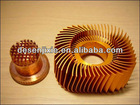 golden aluminum extrusion heatsink for LED light