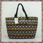 Personalized Pattern Canvas Tote Bag With Leather Handle