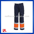 men cargo trouser/men workwear men's plants with hi-vis reflective tape