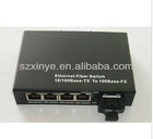10/100M media converter with 4 Rj 45 Connector