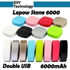 Excellent portable power bank 6000mAh portable charger Lepow Stone 6000 for mobile phone iPad iPhone Nokia HTC Mobile power bank