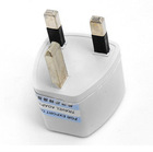 Beige UK Travel AC Power Charger Converter