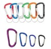 Promotional D shape Flat Aluminum Carabiner with Keychain