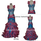 ladyered real evening party dress 2011 hy701