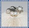 Fashion Copper Alloy Pearl Brooch BR262
