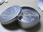 Simple design silver round tin cup mat 6pcs set