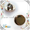 Small mirror plating garment button