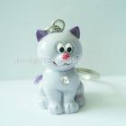 Promotional gift figure animal resin craft keychain shape cat