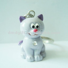 Promotional gift figure animal resin craft keychain shape cat