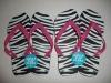 Zebra Printing Adult flip flops