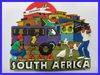 South Africa Item souvenir fride magnet OEM,soft rubber fridge magnet wholesale