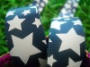 1 inch blue twinkled star grosgrain ribbon