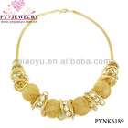 Elegant Fashion Gold Beads Necklace For Girls - PYNK6189