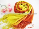 Colored pashmina in bamboo fiber