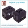 World Travel adapter with universal outlet and USB
