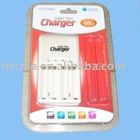 Camera battery charger for aa, aaa battery