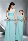 Elegant Baby Green Off Shoulder/Double Straps Chiffon Bridesmaid Dress/Flower Girl Dress