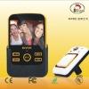 Peephole video camera doorbell system