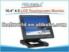 "10.4"" 4:3 800x600 LCD touchscreen monitor with HDMI,DVI,YPbPr, AV for POS terminal"