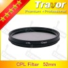 professional camera Lens Filter polarizer CPL 52mm