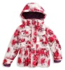 Pink snow ski jacket for winter girls clothes
