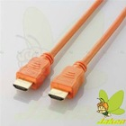 Orange Solid Color HDMI M to M Cable